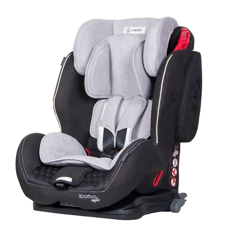 Автокрісло COLETTO Sportivo ISOFIX 9-36 grey black