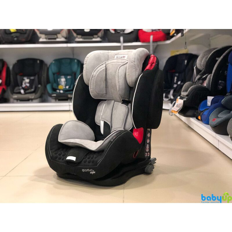 Автокрісло COLETTO Sportivo ISOFIX 9-36 grey black - 2